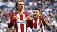 Griezamann Comemora Gol Atletico de Madri Real Madrid Campeonato Espanhol 08/04/2017