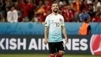 Arda Turan, durante derrota da Turquia contra a Espanha