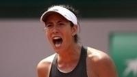 Muguruza vibra em Roland Garros