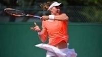 Bia Haddad Maia durante o segundo jogo pela quali de Roland Garros