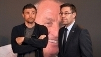 Luis Enrique e Bartomeu; presidente quer que técnico fique no clube