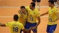 Jogadores brasileiros comemoram vitória