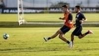 Rodrigo Figueiredo fez três gols no treino do Corinthians