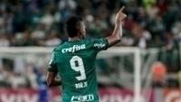 Borja comemora gol do Palmeiras contra o Atlético-GO, no Allianz Parque
