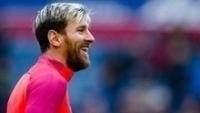Lionel Messi, antes de partida do Barcelona contra o Osasuna no Espanhol