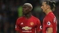 Pogba e Ibrahimovic em ação pelo Manchester United