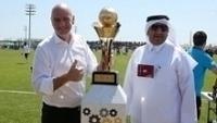 Presidente da Fifa, Gianni Infantino visitou o Catar, sede da Copa do Mundo de 2022