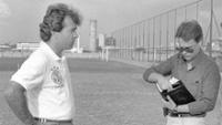 Em 1992, Nelsinho Baptista dá entrevista para jornalista