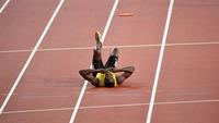 Usain Bolt sentiu lesão na despedida