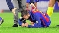 Jordi Alba, durante a partida contra a Real Sociedad