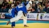 Judoca Isaque Conserva durante luta