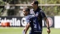 Pedrinho, durante treino do Corinthians nesta quarta-feira