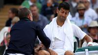 Djokovic abandonou as quartas de final em Wimbledon por conta da lesão