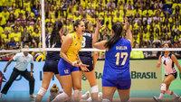 Brasil venceu os Estados Unidos por 3 sets a 1