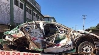 Paulo Nobre relativiza acidente no rali sofrido neste domingo: 'Não vai ser o último'; veja
