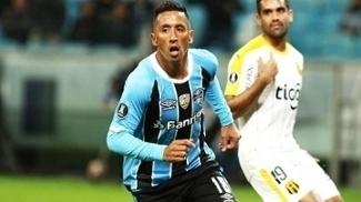 Barrios Comemora Gol Gremio Guarani-PAR Libertadores 27/04/2017