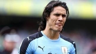Edinson Cavani não disputará a partida contra a Itália