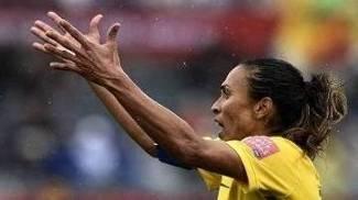Marta em jogo contra a Austrália
