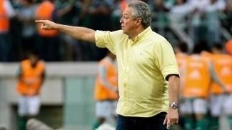 Abel Braga, na derrota do Fluminense para o Palmeiras no Allianz Parque