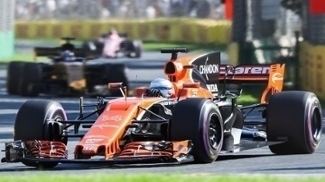 Fernando Alonso durante o GP da Austrália de F-1 em 2017