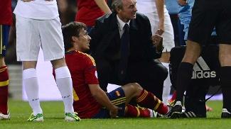 David Silva se machucou no confronto da Espanha contra a França