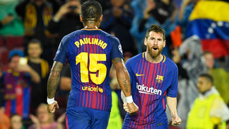 Messi Comemora Gol Barcelona Olympiacos Champions 18/10/2017