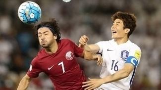 Rodrigo Tabata esteve em campo na vitória do Catar sobre a Coreia do Sul