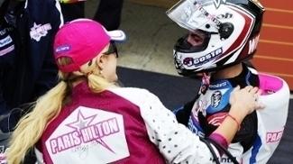 Maverick Vinales Paris Hilton Comemoram Vitoria GP Valencia Moto3 06/11/2011
