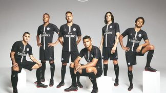 O novo uniforme do PSG para jogos da Champions League