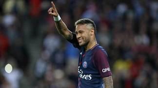 Neymar, na vitória do PSG sobre o Toulouse no Francês