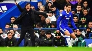 Antonio Conte Hazard Chelsea Swansea Premier League 25/02/2017