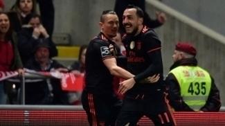 Benfica marca no fim, vence Braga e retoma liderança do Português