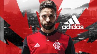 Diego Flamengo Adidas Nova Camisa 2017 dacec38ea6de2