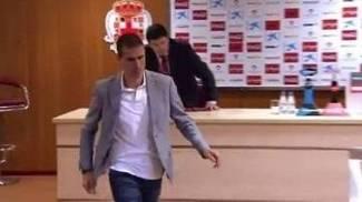 Gaizka Garitano abandona a entrevista após derrota do Eibar