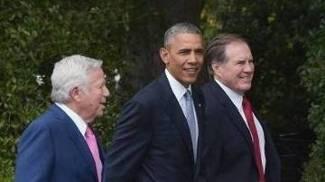 Bill Belichick Kraft e Obama