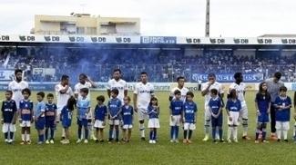 Time do Cruzeiro na partida contra o URT
