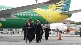 Marco Polo Del Nero participou de ação de patrocinador da CBF em aeroporto em São Paulo