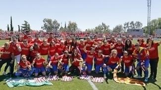Meninas do Atlético de Madri foi campeãs espanholas