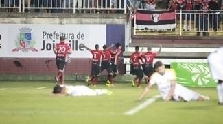 Joinville venceu o Criciúma na noite desta quinta-feira