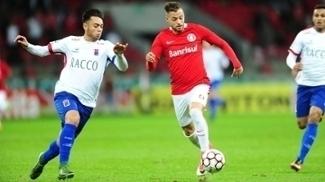 Nico Lopéz, atacante do Internacional, desfalcará o time no jogo contra o Brasil de Pelotas, neste sábado