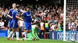 Diego Costa abre o placar para o Chelsea