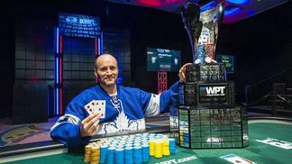 Mike Leah e o troféu do WPT Falls View