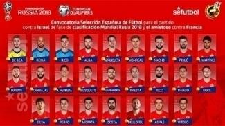 Espanha anunciou convocação para jogo das eliminatórias e amistoso com a França