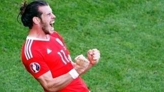 Gareth Bale Comemora Vitoria Pais de Gales Eslovaquia Euro-2016 11/06/2016