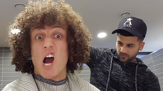 David Luiz Barbeiro Ahmed Alsanawi Chelsea Instagram