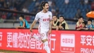 Alexandre Pato comemora gol na vitória do Tianjin Quanjian no Campeonato Chinês