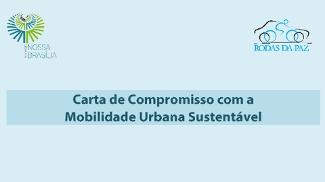 Carta-compromisso em Brasília, feita pela turma do Rodas da Paz