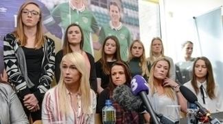 A seleção feminina da Irlanda foi a público para reivindicar mudanças