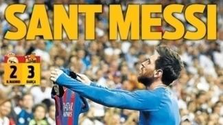 Nocaute, soberbo e 'santo': a repercussão pelo mundo do feito de Messi sobre o Real