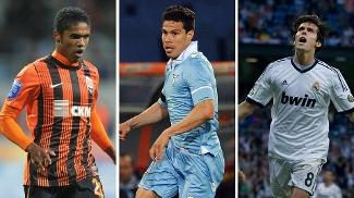 Douglas Costa, Hernanes ou Kaká, qual foi o melhor brasileiro do futebol internacional na última semana? Vote!
